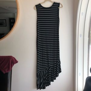 A New Day Long Black Striped Sundress